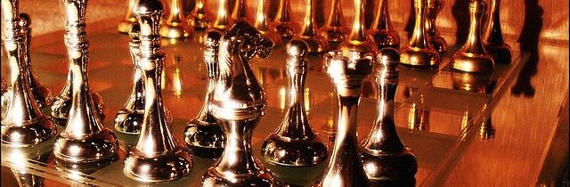 Metallic chessboard