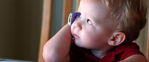 Baby on phone