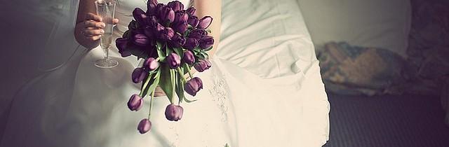 bride with wine