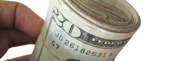 folded bills