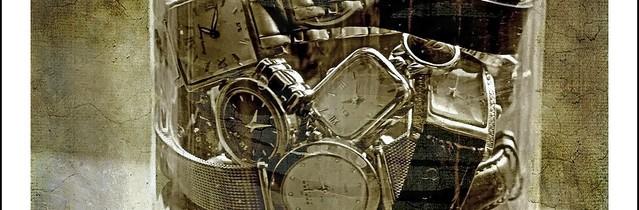 Clocks on jar
