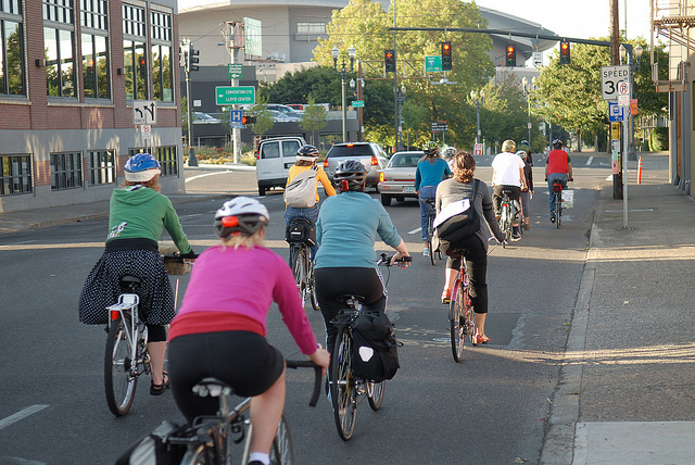 Some shots of bike traffic riding in the Vancouver gap.