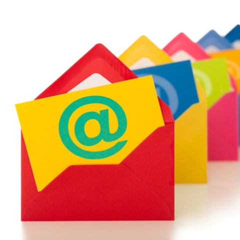 colorful emails