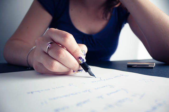 blue pen