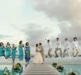 jumping bridal party