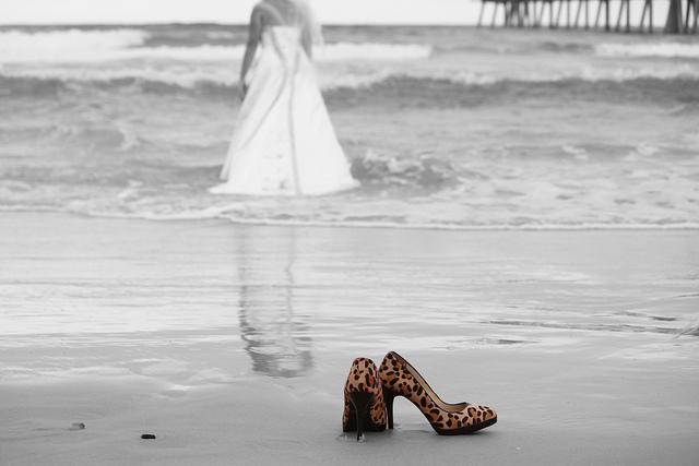 heels in the sand