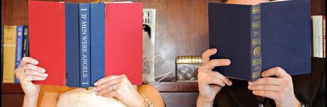 couple reading books