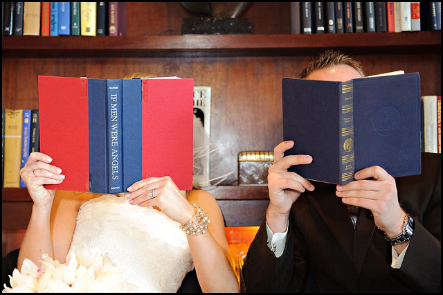 couple reading books