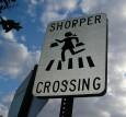 shopper crossing