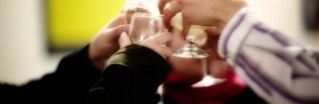 Men having a toast