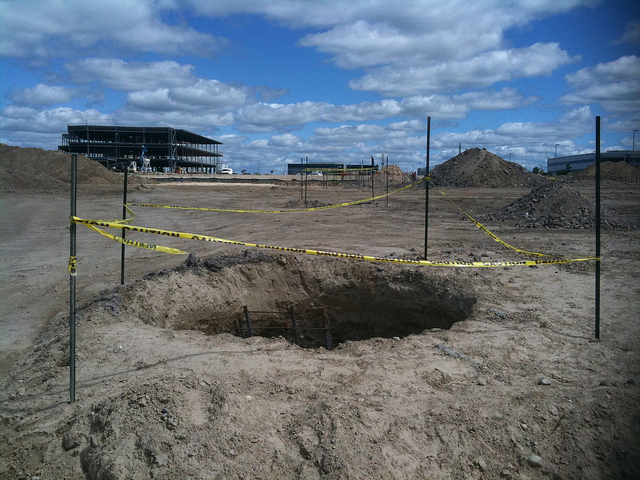 hole in the ground