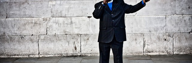Man with megaphone