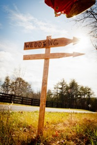 wedding road sign