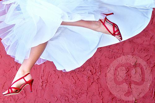 bride on the carpet