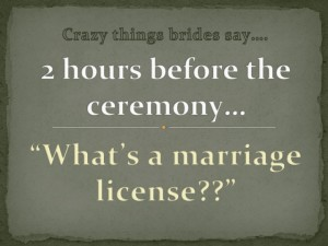 waht is a marriage license
