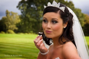 bride eating chocolate