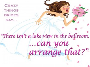 Bride complaining about the ballroom