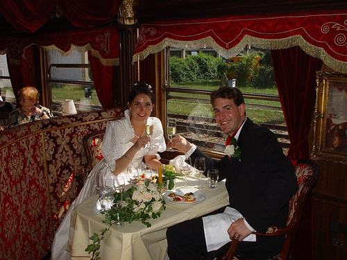 wedding couple dinner