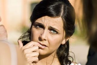 Dismayed bride
