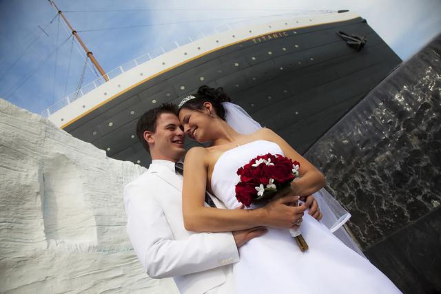 Wedding at titanic