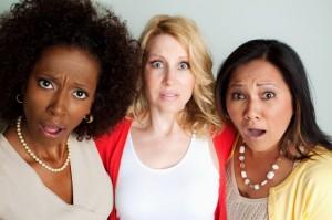 Shocked women