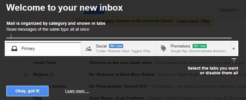 Gmail Inbox Changes