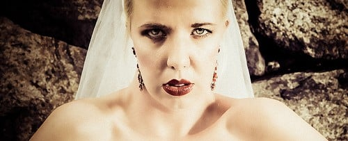 disgusted bride