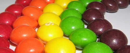 Colorful skittles