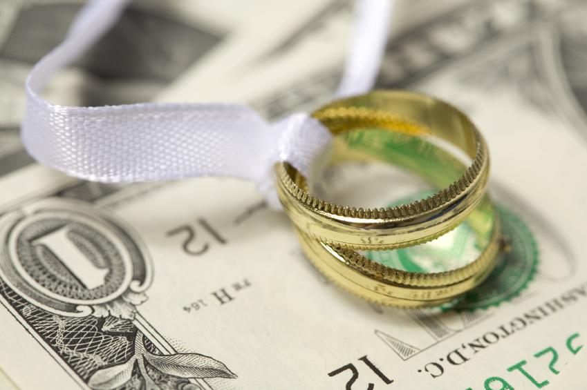 Wedding Rings on Cash