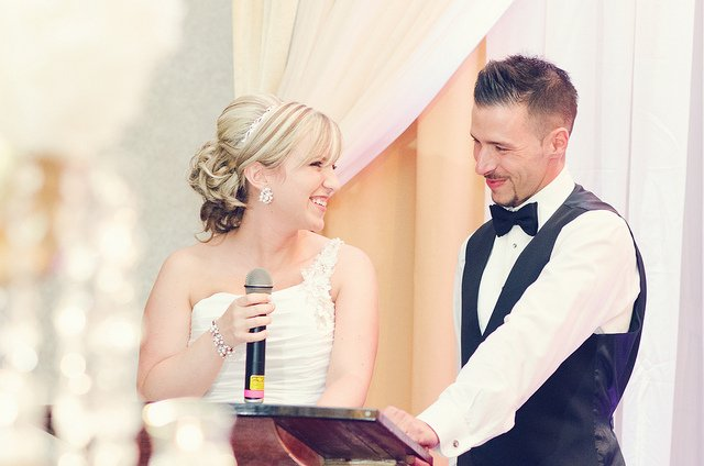 Bride with Microphone