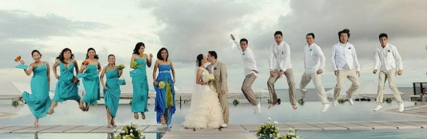 Jumping Bridal Party