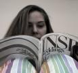Bride Reading Magazine