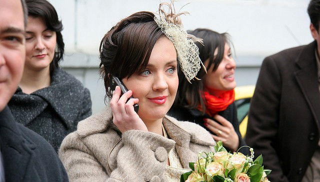 Bride on Phone-640