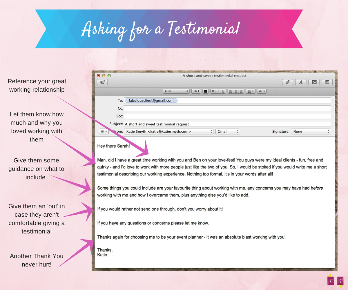 Getting Client Testimonials A Done For You Email Script