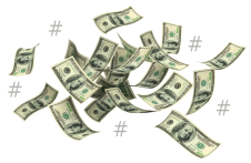 Image of Money with Hashtags