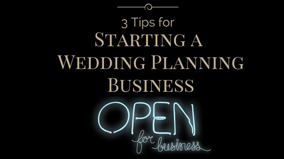 Starting a wedding planning business