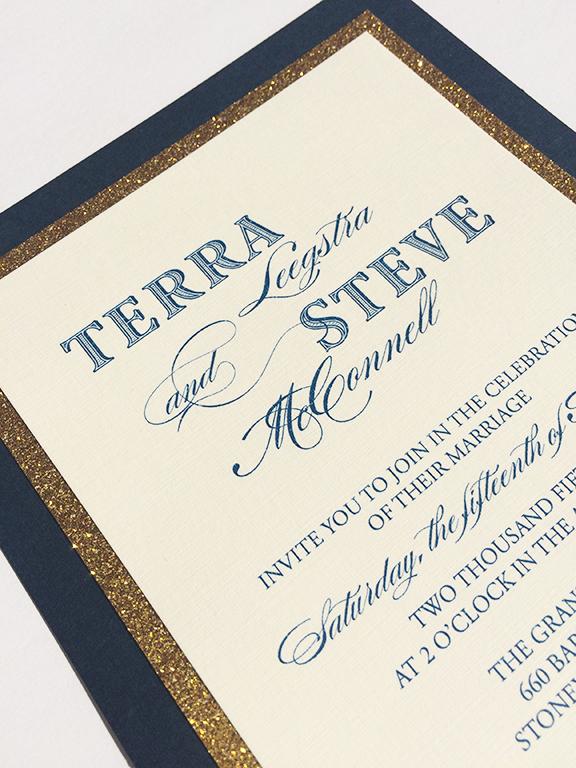 Fancy Wedding Invitations Glitter