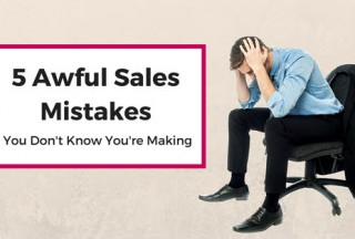 Sales Mistakes blog