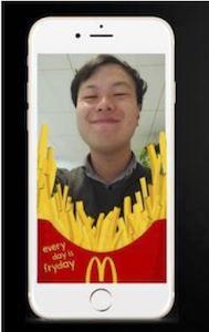 McDonald'sSnapchat filter